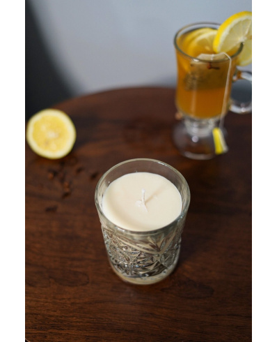 Hot Toddy in drinking glass