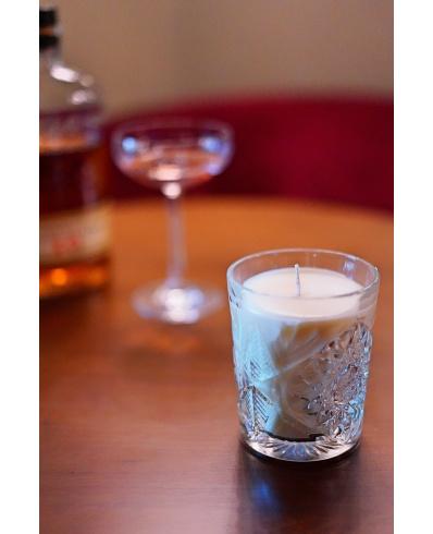 Manhattan in drinking glass